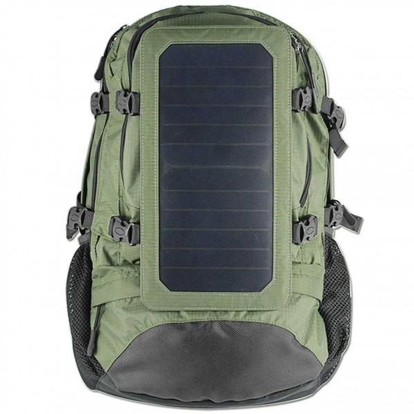 Mochila solar verde