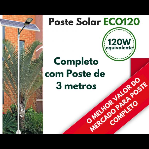 Poste Energia Solar LED ECO-120