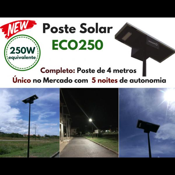 Poste Energia Solar LED ECO-250