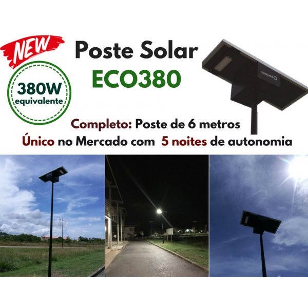Poste Energia Solar LED ECO-380