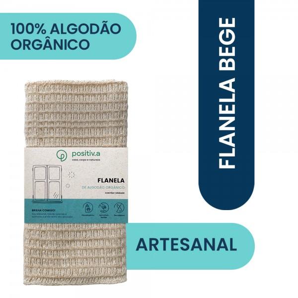 Flanela Orgânica Bege (Positiv.A)