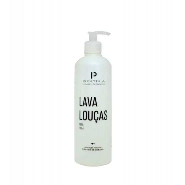 Frasco auxiliar lava louças pump 500ml (embalagem 100% reciclada)