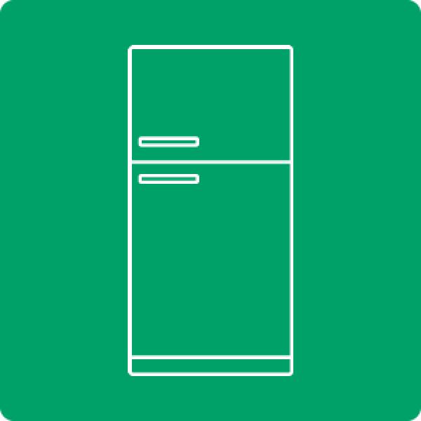 Descarte ecologico de geladeira