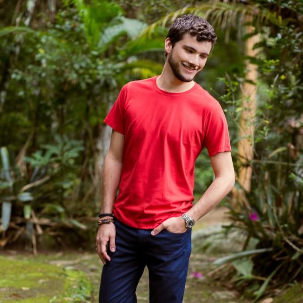 Camiseta UseEco Gola C Vermelha