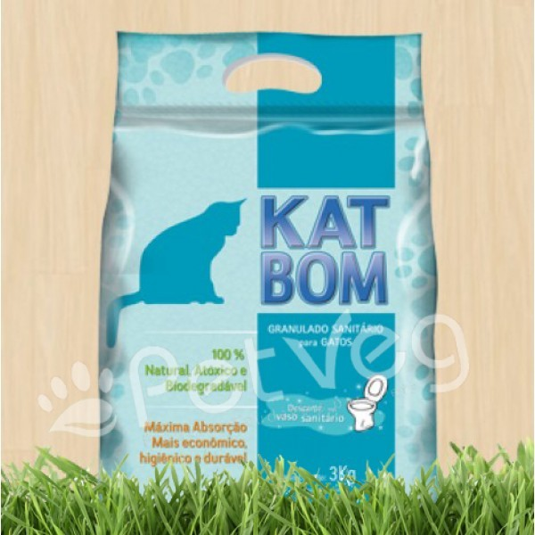 Granulado Sanitário Biodegradável para Gatos - Tradicional