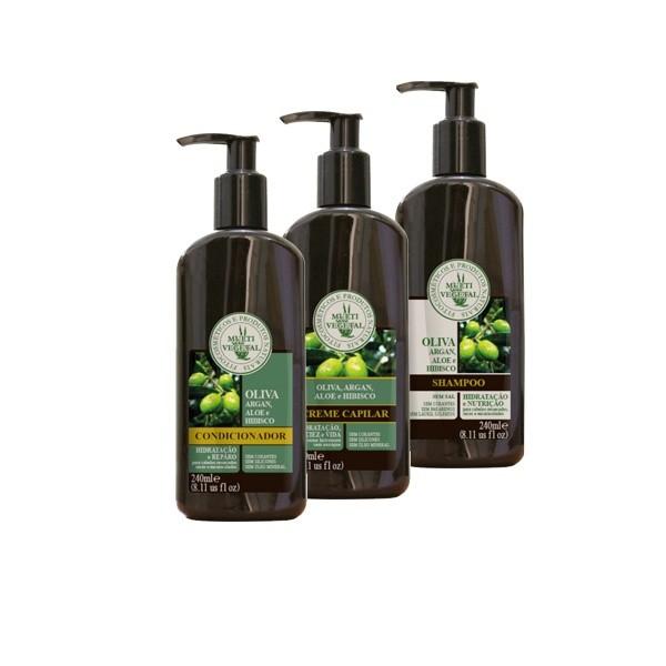 Kit Multi Vegetal para cabelos cacheados ou crespos