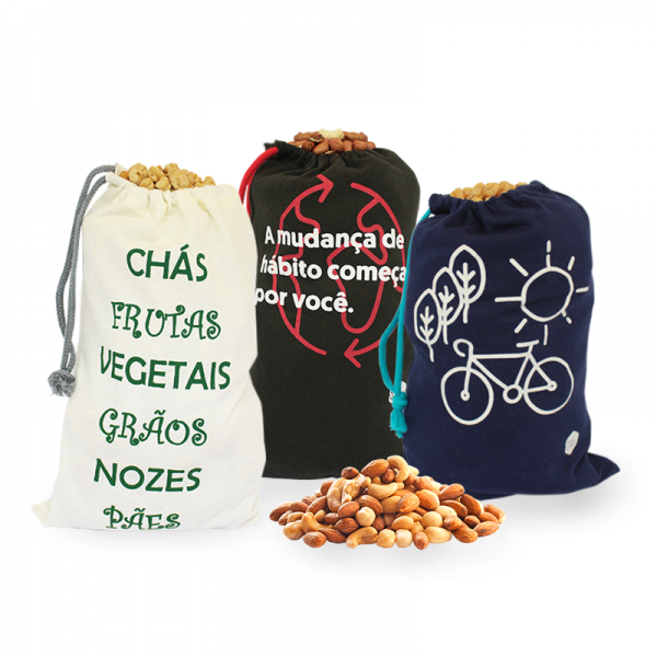 Kit de Sacos Ecológicos Reutilizáveis Pequenos para Granel Marca: Beegreen