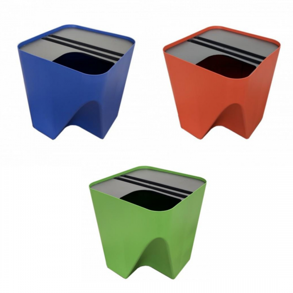 Kit 3 Lixeiras Empilháveis EcoClean