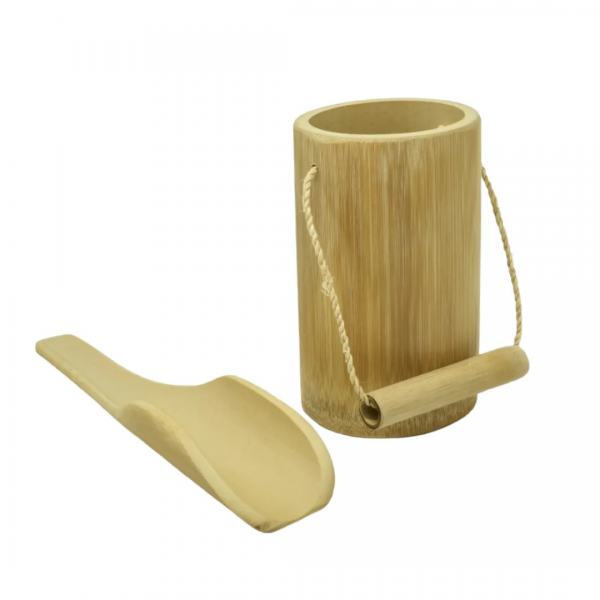 Kit Balde + Pazinha de Bambu Tao Bambu