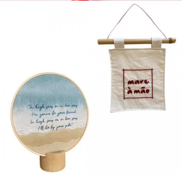 Kit Mare à mão bordado- Tao Bambu