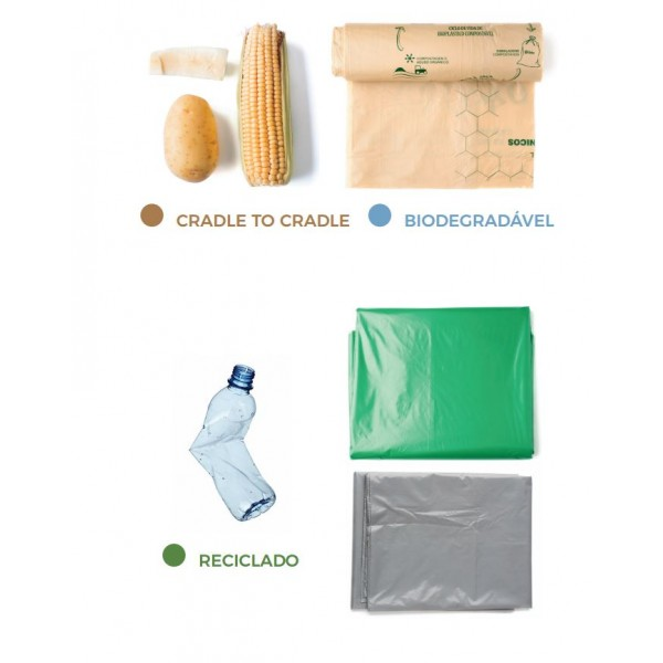 Kit de sacos para limpeza