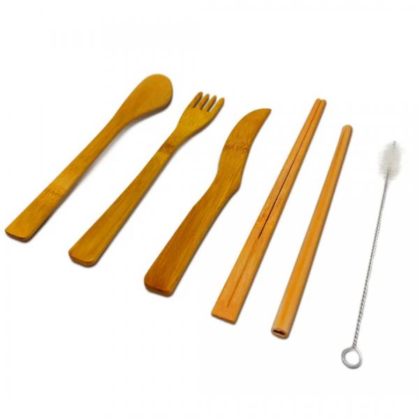 Kit Talheres Lixo Zero Completo - Tao Bambu