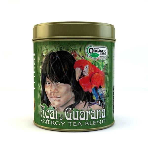 Chá Tribal Brasil - Açaí e Guaraná - Lata 100g