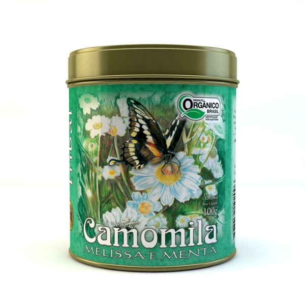 Chá Tribal Brasil - Camomila, Melissa e Menta - Lata 100g