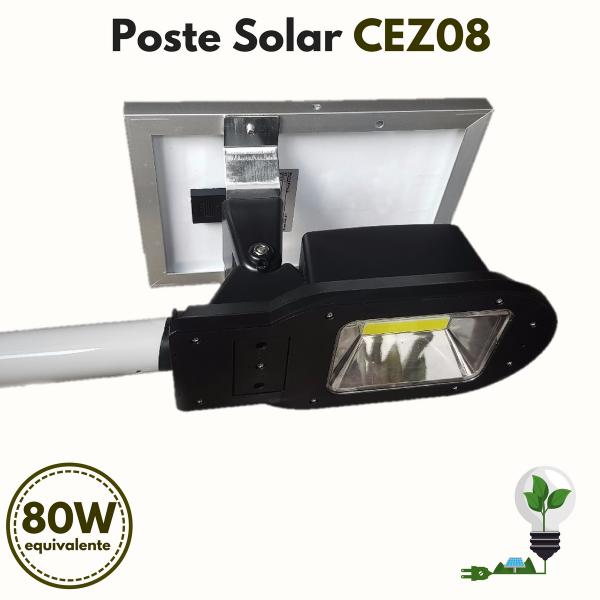 Poste Energia Solar LED CEZ-08