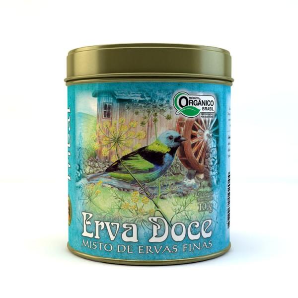 Chá Tribal Brasil - Erva Doce - Lata 100g