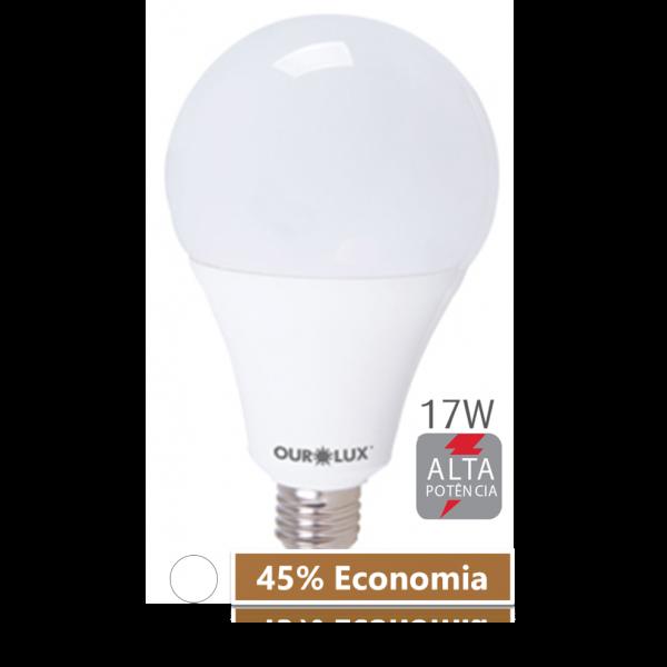 Lampada LED 17W 6500K Ourolux Branca - 45% de Economia