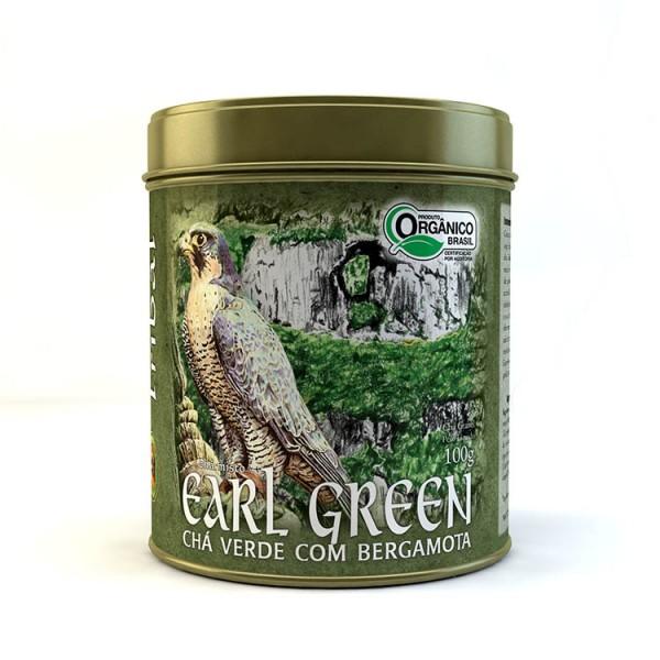 Chá Tribal Brasil - Earl Green - Lata 100g