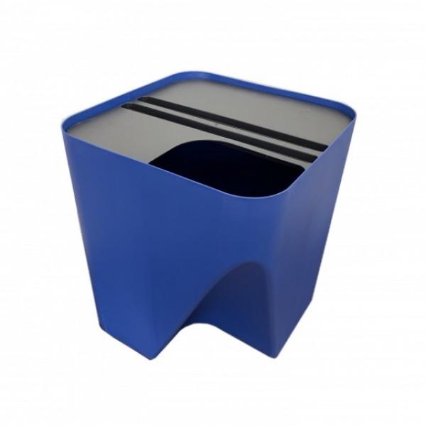 Lixeira empilhável para reciclagem - azul