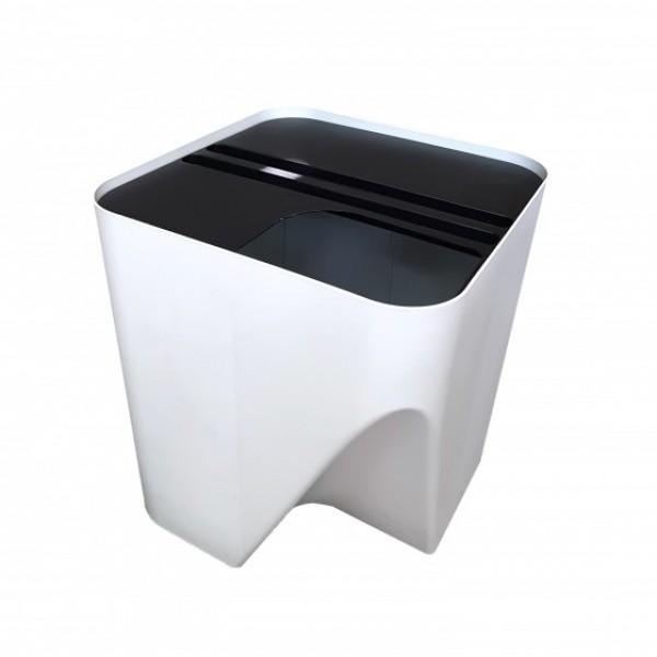 Lixeira empilhavel para reciclagem branca