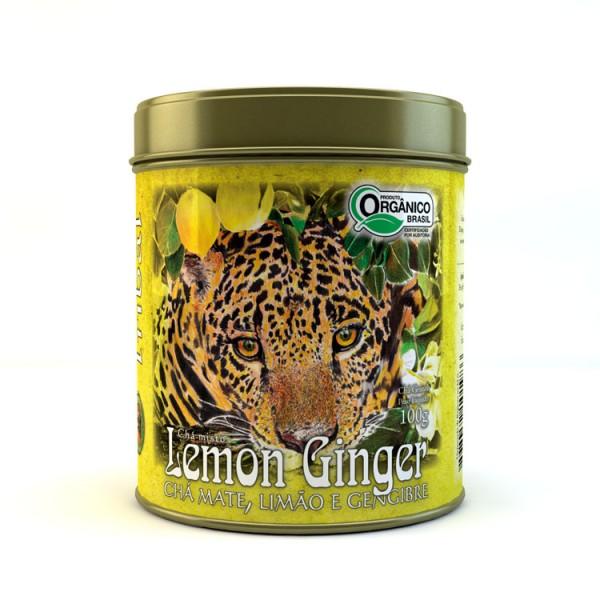 Chá Tribal Brasil - Lemon Ginger - Lata 100g