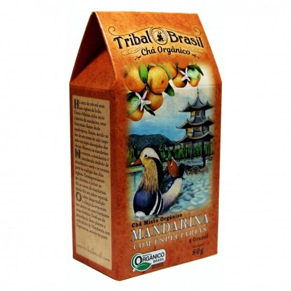 Chá Tribal Brasil - Mandarina com Especiarias - Caixa 80g
