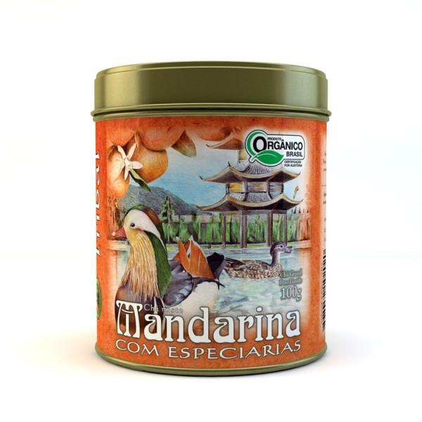 Chá Tribal Brasil - Mandarina com Especiarias - Lata 100g