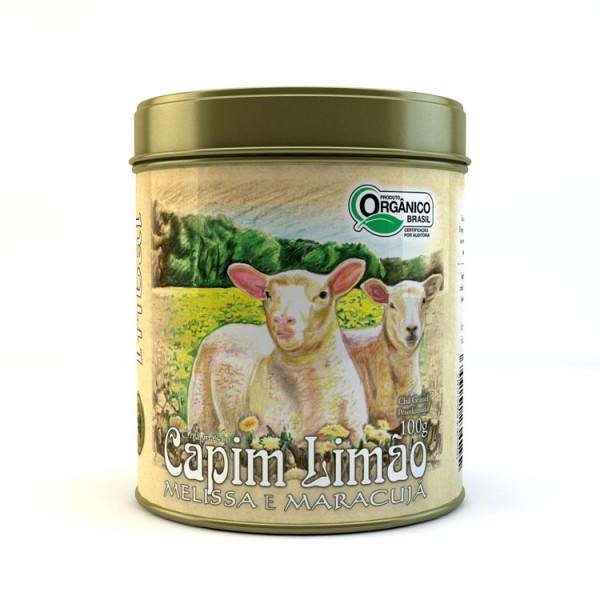Chá Tribal Brasil - Capim Limão, Melissa e Maracujá - Lata 100g