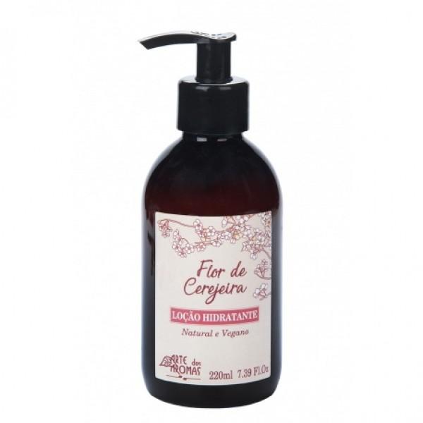 Loção Hidratante Natural e Vegana Flor de Cerejeira Arte dos Aromas 220 ml