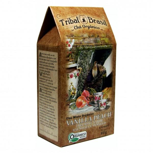 Chá Tribal Brasil - Vanilla Peach - Caixa 80g