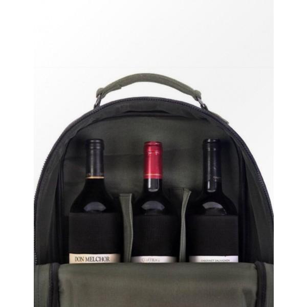 Mala de Vinho Preta - Recman