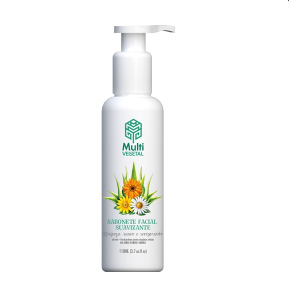 Sabonete Facial Vegano Multi Vegetal Neutro Suavizante 120ml