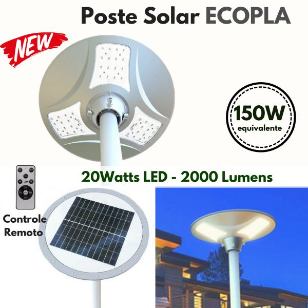 Poste Energia Solar Design Diferenciado NAVE ECO-PLA
