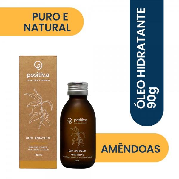 Óleo Hidratante de Amêndoas 120ml Positiv.a