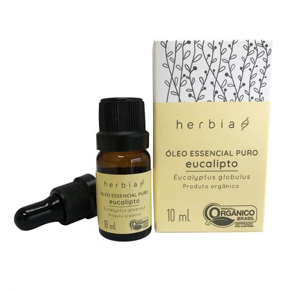 Óleo Essencial Orgânico de Eucalipto 10 ml Herbia