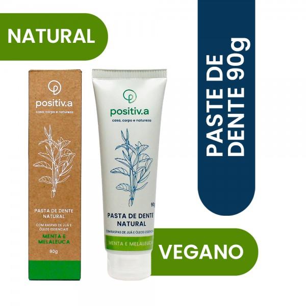 Pasta de Dentes Natural Menta e Melaleuca 90g Positiv.a