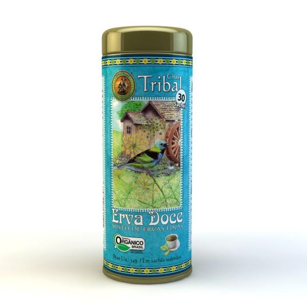 Chá Tribal Brasil - Erva Doce - Sachê Redondo (30 sachês)