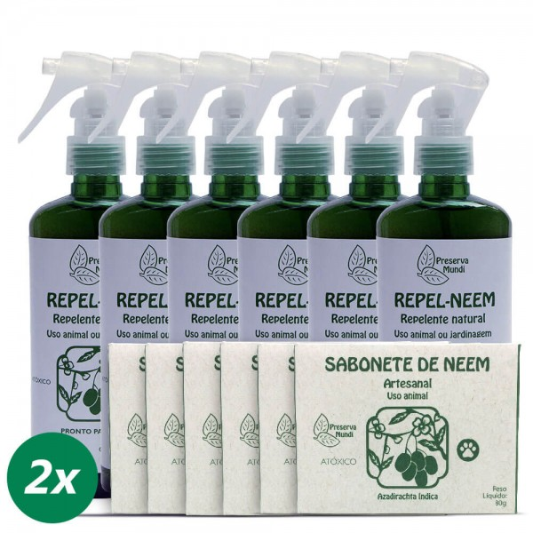 Repelente e sabonete neem 240ml - Uso Animal (pronto para uso)
