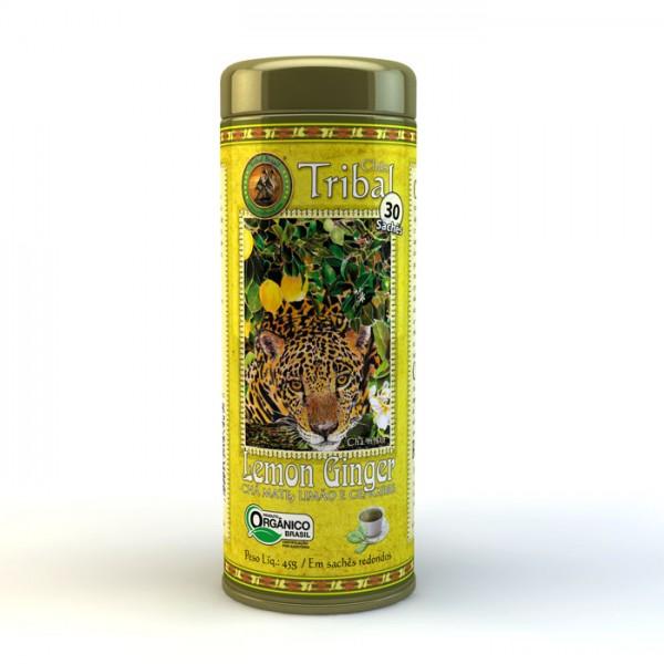 Chá Tribal Brasil - Lemon Ginger - Sachê Redondo (30 sachês)