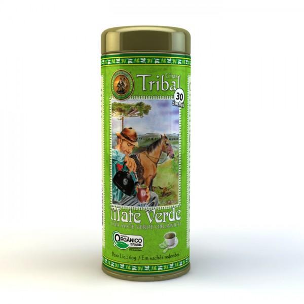 Chá Tribal Brasil - Mate Verde - Sachê Redondo (30 sachês)