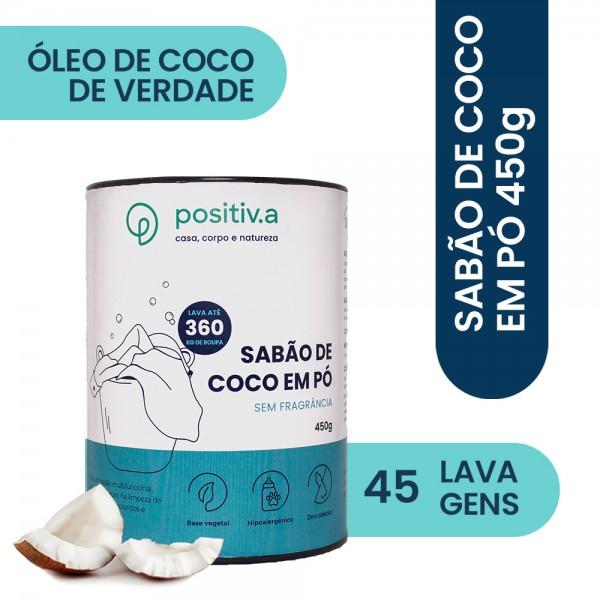 Sabão de Coco em Pó 450g - Positiv.a