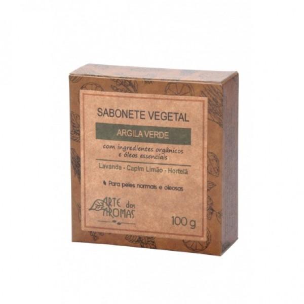 Sabonete Vegano Arte dos Aromas Argila Verde 100g