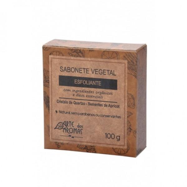Sabonete Esfoliante Natural Vegano Arte dos Aromas Cristais De Quartzo 100g