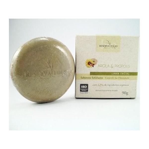 Sabonete facial e corporal natural Reserva Folio de Argila Verde 90g