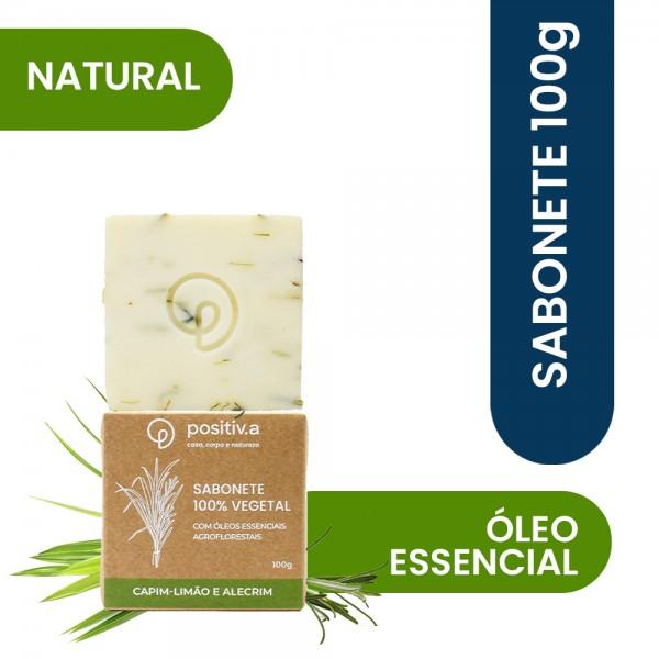 Sabonete Vegetal Capim Limão e Alecrim 100g Positiv.a