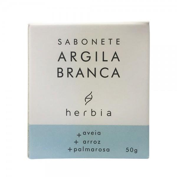 Sabonete Facial Natural e Vegano de Argila Branca Herbia 50g