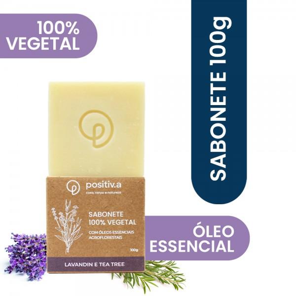 Sabonete Vegetal Capim Lavandin e Melaleuca 100g Positiv.a
