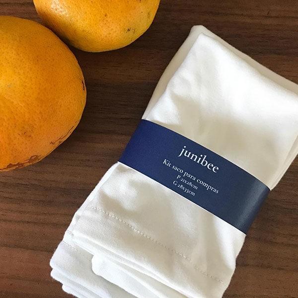 Kit saco de algodão orgânico P+G Junibee