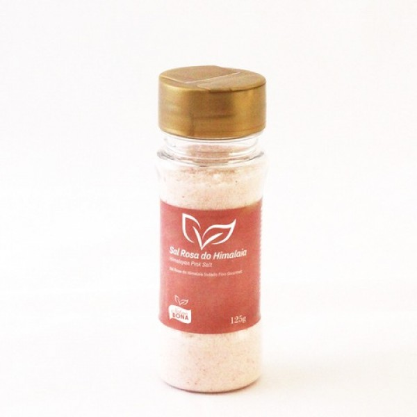 Sal Rosa do Himalaia Iodado Fino Gourmet Pote 125g