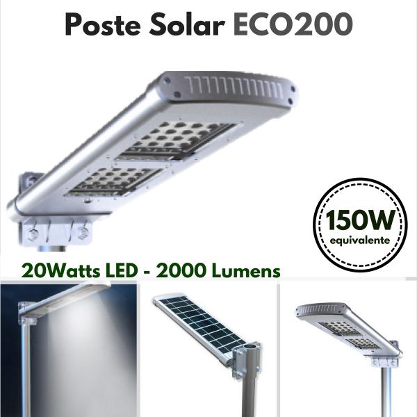 Poste Solar Modelo Sensor ECO-200